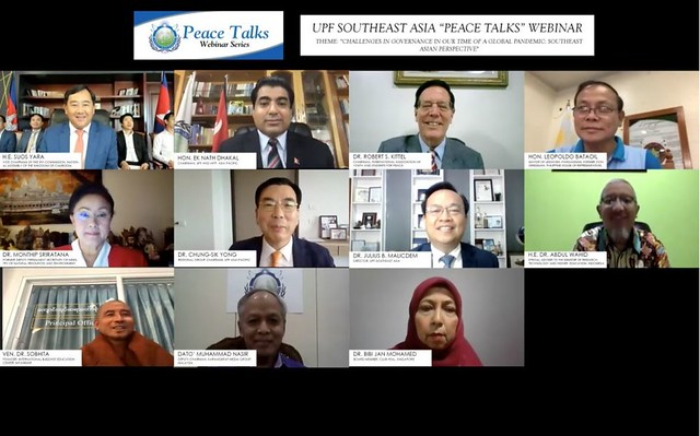 "Southeast Asia-2020-06-11-UPF-Southeast Asia's ""Peace Talks"" Webinar Features Experts From Seven Nations"