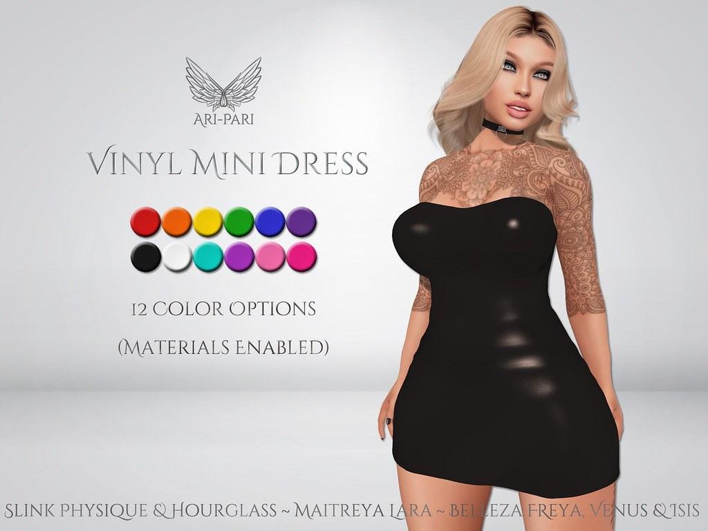 [Ari-Pari] Vinyl Mini Dress