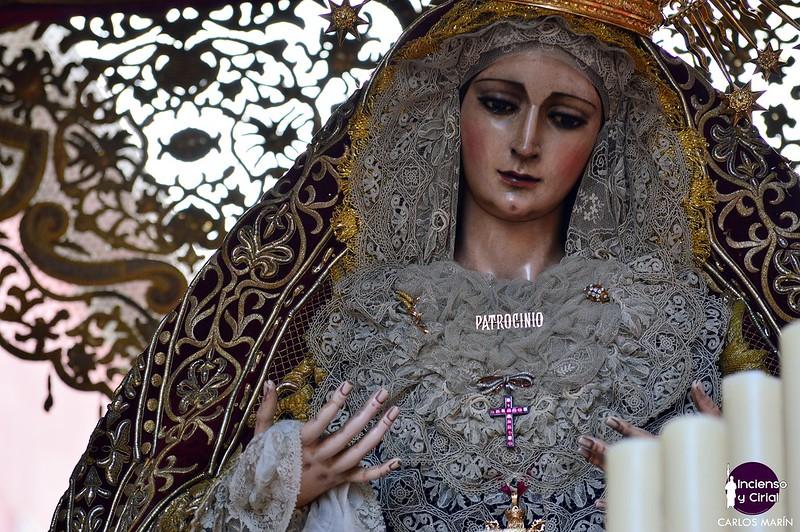 El palio de la Virgen del Patrocinio estará expuesto para La Gran Exposición de Sevilla