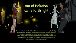 out of isolation came forth light: poster
