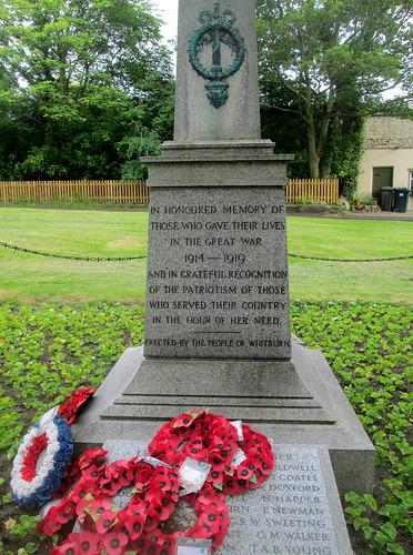 Whitburn War Memorial Great War Dedication