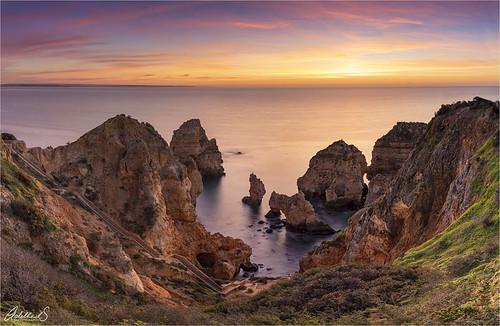 adeheidspictures adelheidsphotography adelheidsmitt algarve portugal pontadepiedade sunrise paulosilvaphototour scenery coast seastacks
