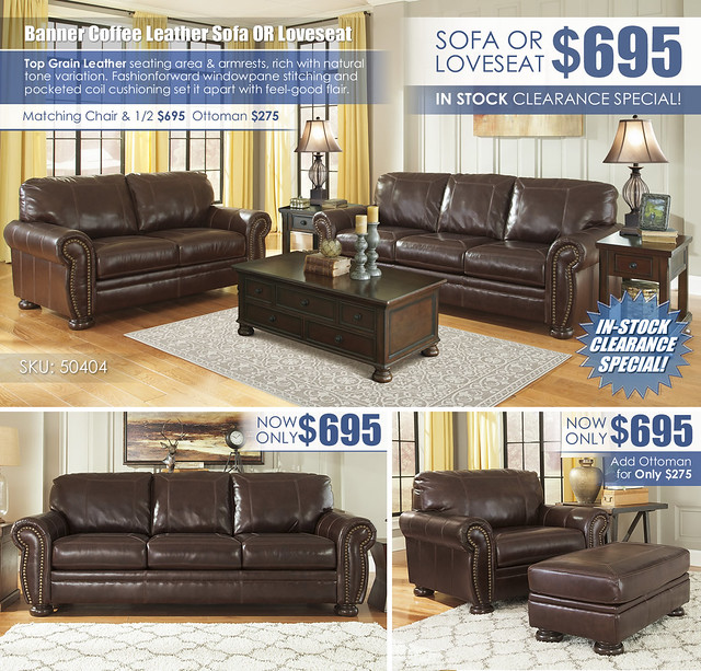 Banner Coffee Leather Sofa OR Loveseat_InStockClearance_50404-38-35-T697_Update