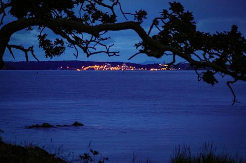 piperslagoonpark nanaimo vancouverisland britishcolumbia canada lights twilight lowlight ocean water night park evening pentax pentaxk100