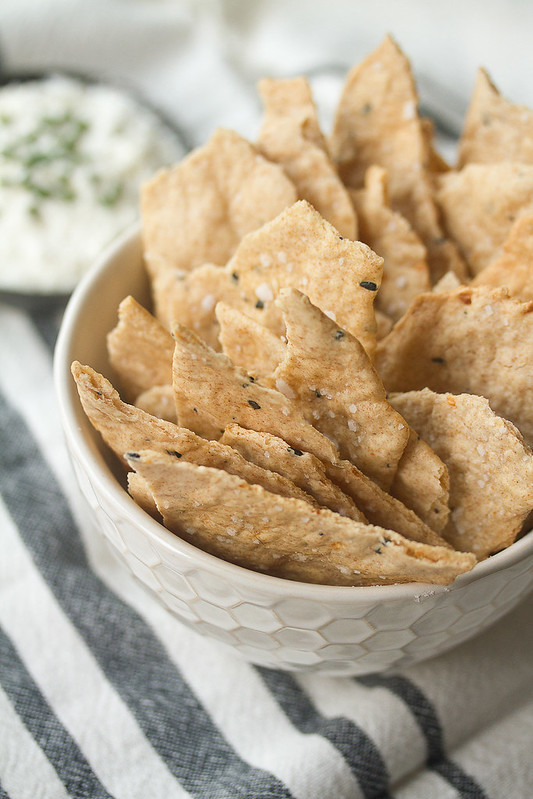 Bowl of Everything Spice Sourdough Crackers