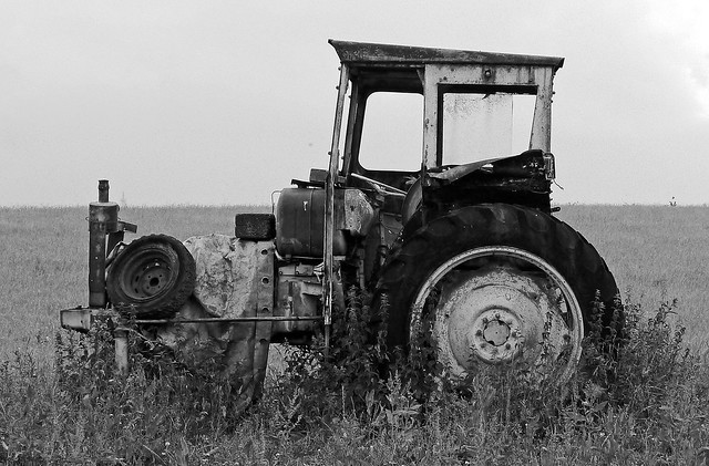 Scrap Tractor - Spotted on our Wednesday Walk