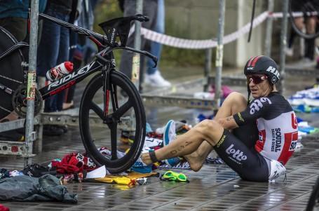 Triatlonový víkend vRačicích ozdobil i australský cyklista Hansen