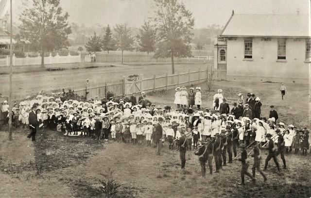 Empire Day at Taree School, Taree, N.S.W.  1909