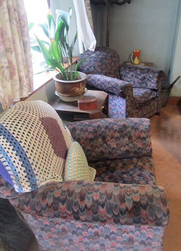1930s chairs, Beamish, County Durham, folk museum