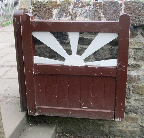 1930s gate, Beamish, County Durham, folk museum