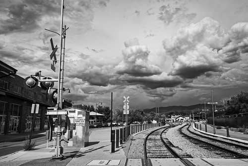 santafe newmexico railway urban landscape blackandwhite blackwhite bw contrast