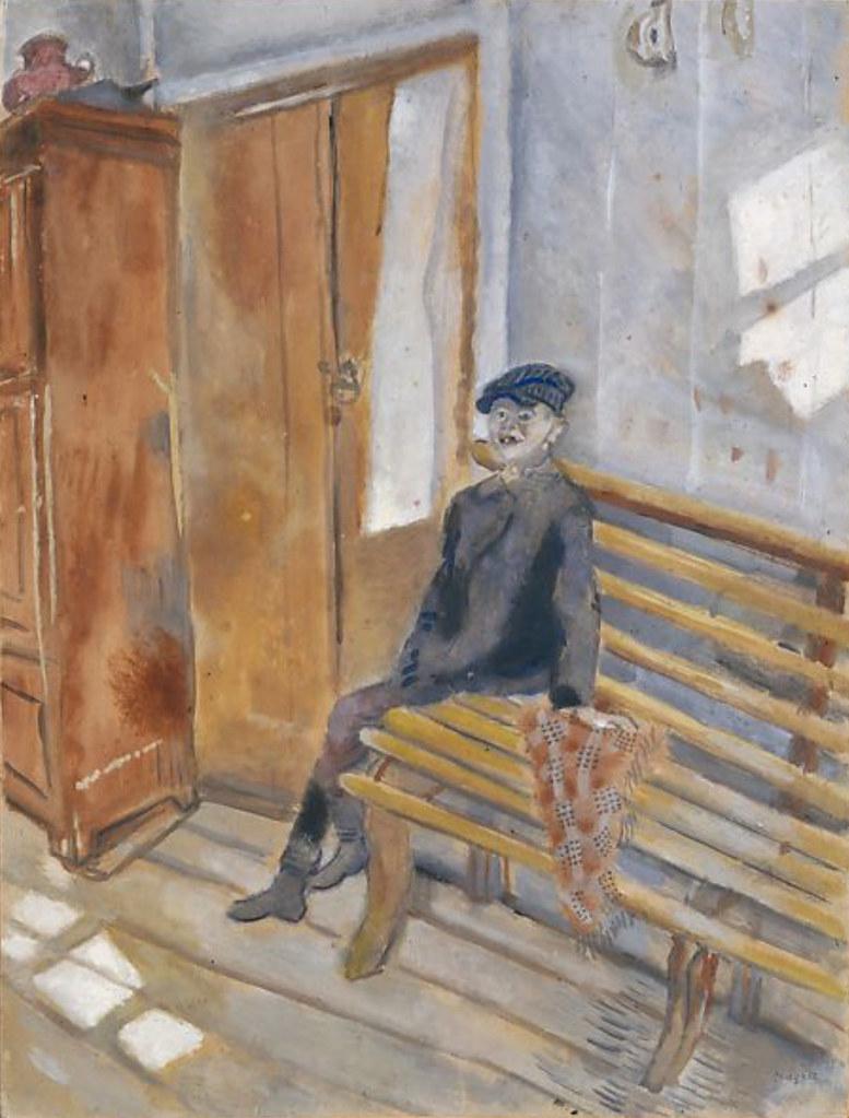 L'Idiot du village (Chagall) | Huile et graphite sur papier,… | Flickr