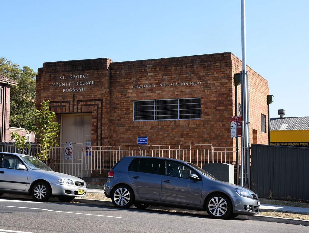 Electricity Substation No 10, Kogarah, Sydney, NSW.