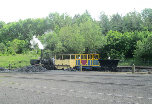 Puffing Billy and train, Beamish, County Durham