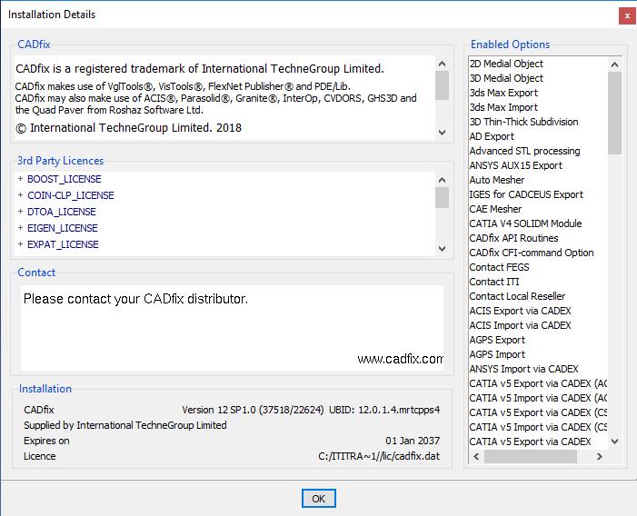 ITI TranscenData CADfix 12 SP1 win64 full license
