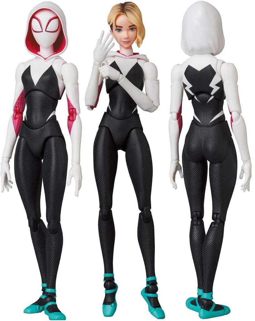 MAFEX《蜘蛛人:新宇宙》女蜘蛛人·關(マフェックス No.134 MAFEX SPIDER-GWEN(GWEN STACY))還有超級可愛的蜘豬人一起登場!
