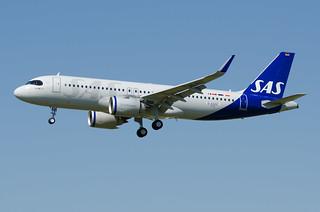 D-AXAC / SE-RUA - Airbus A320-251 NEO - SAS Scandinavian Airlines - msn 9520