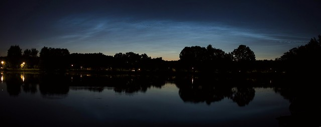 Noctilucent clouds over Moscow 2020/06/23 20:17 UT
