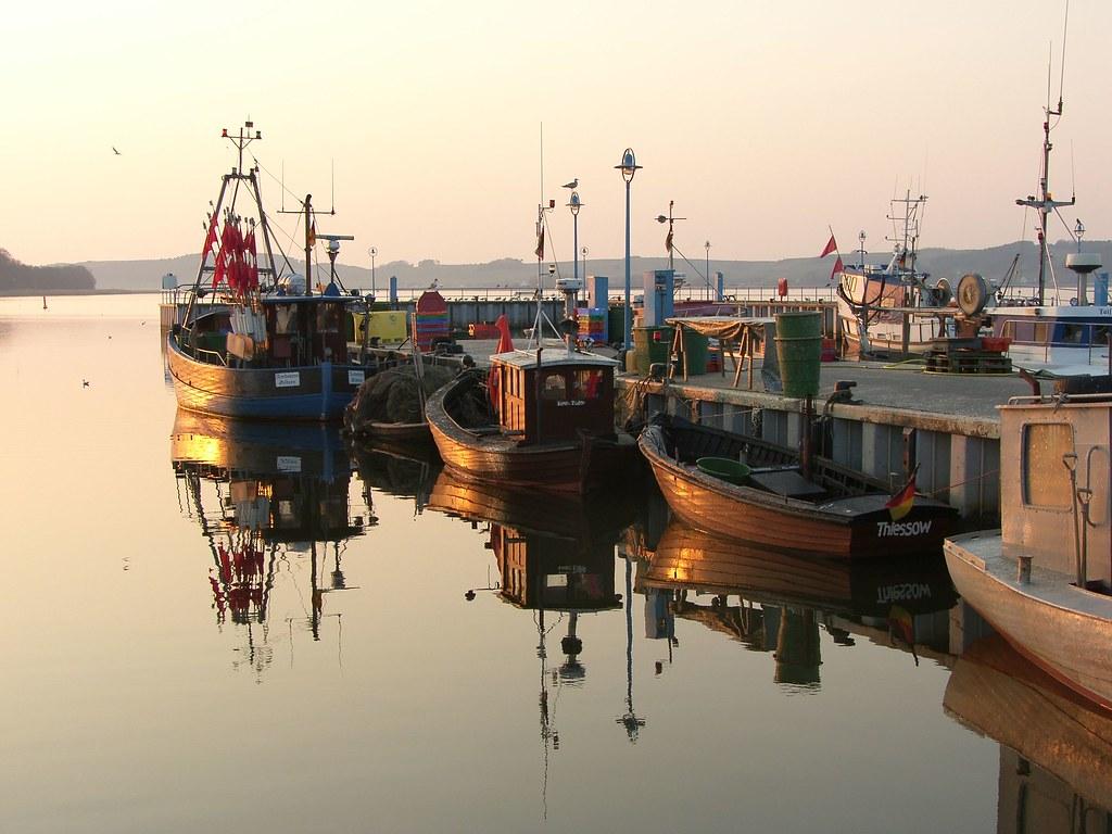 Fischerboote im Hafen von Thiessow / Bildquelle: Bildarchiv Biosphärenreservatsamt Südost-Rügen