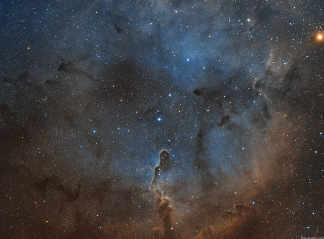 IC 1396 and The Elephant Trunk Nebula - SHO