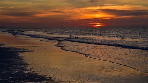hiltonheadisland southcarolina usa sunrise sunset beach nature ocean