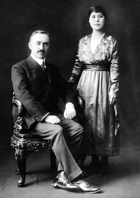 Portrait of Menno Simon Wiersum and Shime Nakaoka, Yokohama, ca. 1925