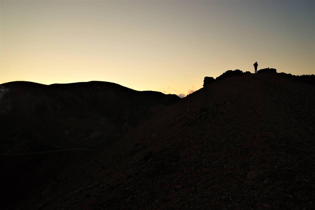吾妻小富士の夕日
