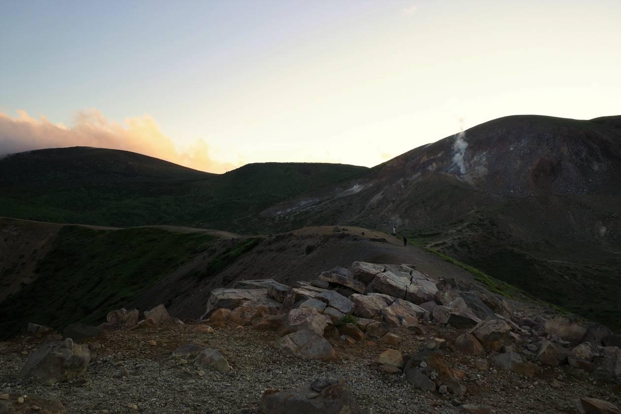 吾妻小富士から眺める夕日