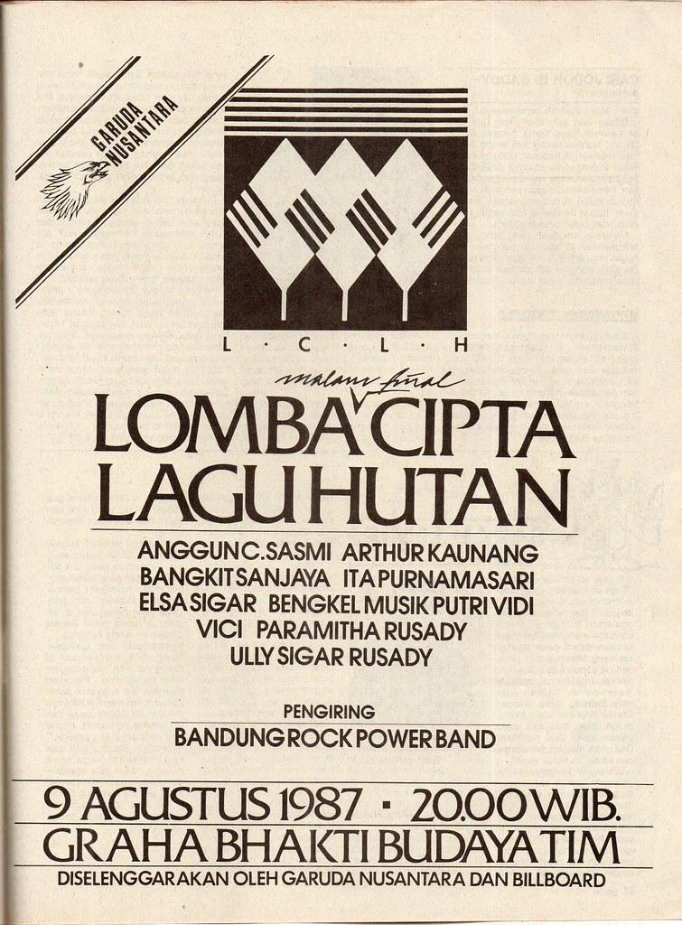 Lomba Cipta Lagu Hutan - Gadis, 30 Juli 1987