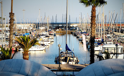 port porto puerto harbor harbour olympic olimpic olímpico sea mar mare water waterfront boat sailboat sky skyline cielo tree plant palmtree sunset puestadelsol sun sol sunny color colour colores colours colors light reflection shadow shadows outside outdoor