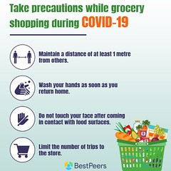 Take Precautions while grocery shopping during Covid-19