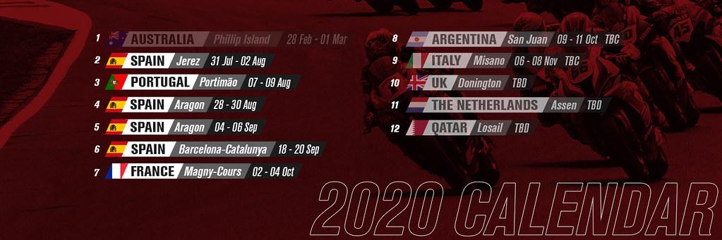 Calendar WSBK 2020