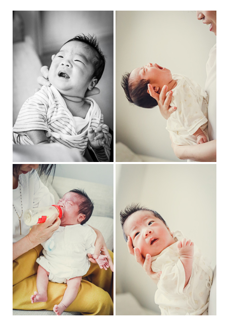 ご自宅へ出張撮影 赤ちゃんの自然な姿 泣いたり、ミルクを飲んだり