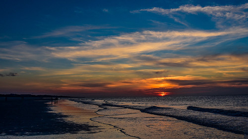 sunrise sunset hiltonhead southcarolina nature