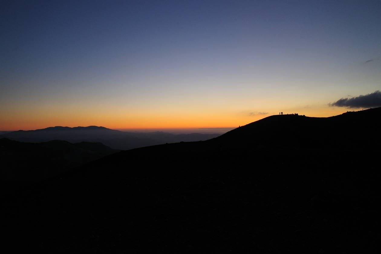 吾妻小富士からの朝焼け