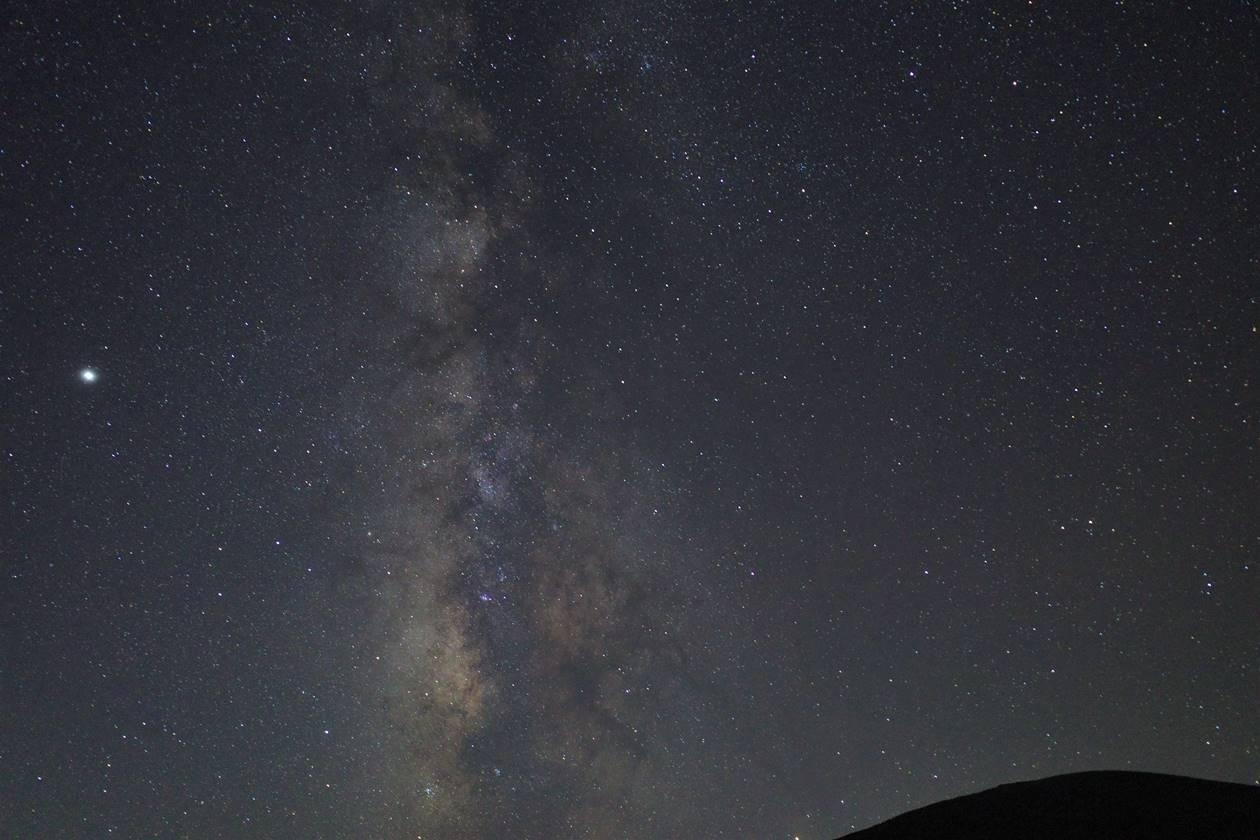 浄土平から見上げる星空・天の川