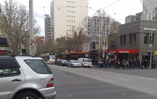 Traffic in Swanston Street (June 2010)