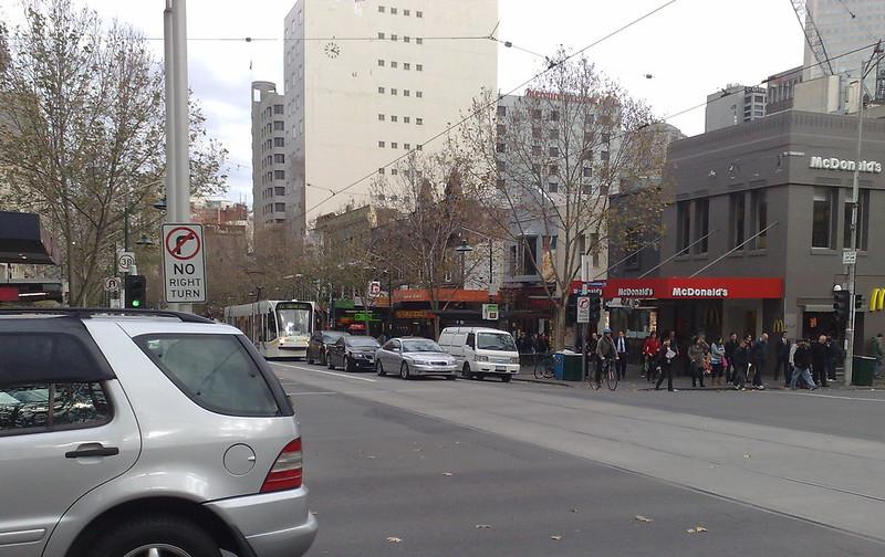 Traffic in Swanston Street (June 2010)