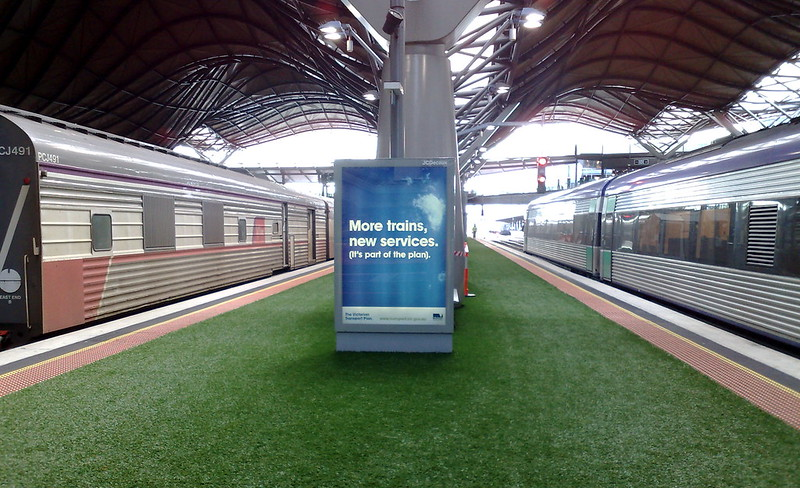 Advertising for dairy products at Southern Cross Station (June 2010)