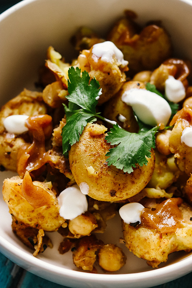 New Potato and Chickpea Chaat