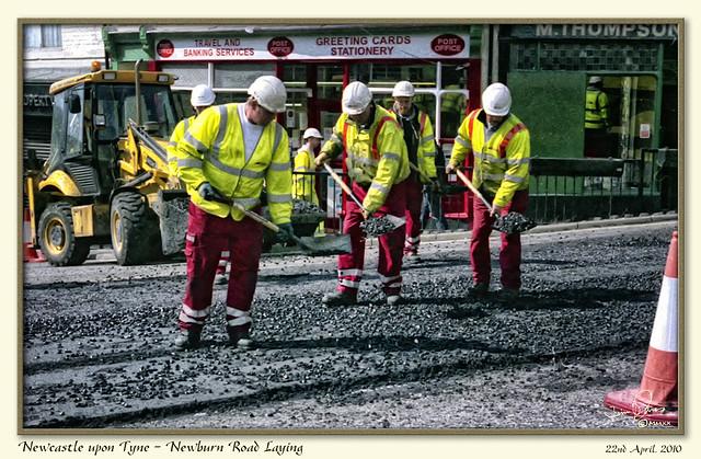 NRW36 Newcastle upon Tyne - Newburn Road Laying