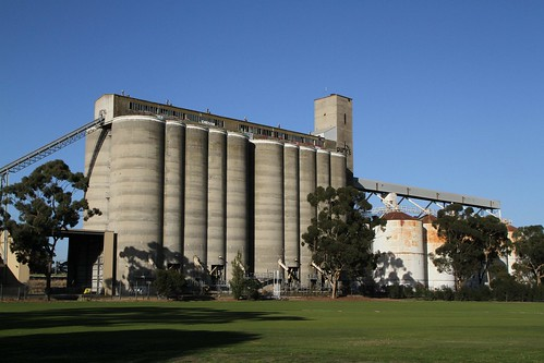 Grain silos tower over the J.R. Parsons Reserve