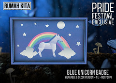 Rumah Kita - Blue Unicorn Badge