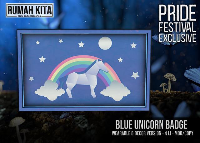 Rumah Kita - Blue Unicorn Badge