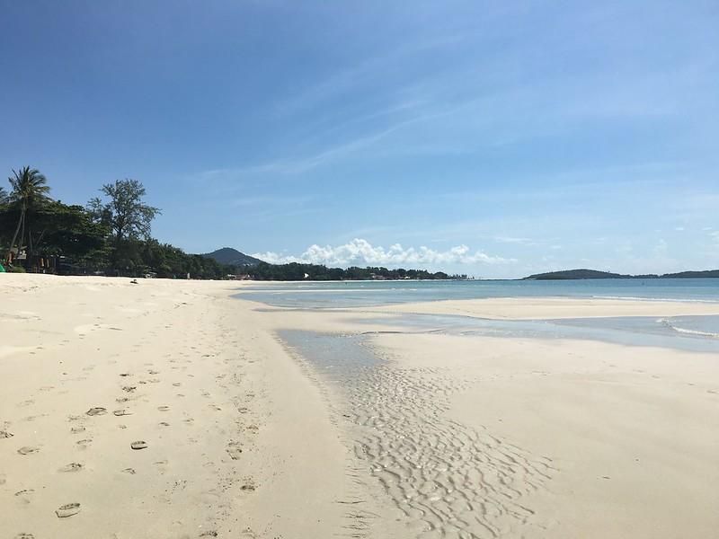 chaweng beach walking koh samui   コサムイチャウエンビーチ