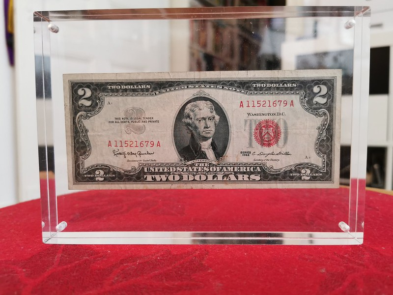 1963 Red Seal $2 Bill