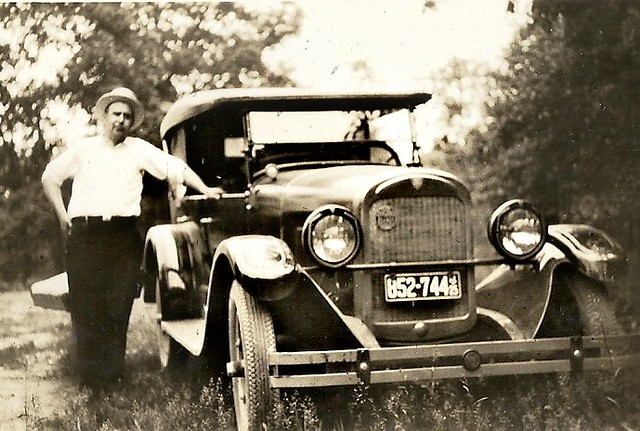 Found Family photo (Unknown) Man and his car.