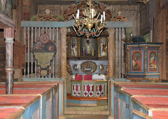 Garmo stavkirke – Interiør