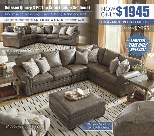 Roleson Quarry Leather 3-PC Sectional_58703-55-46-49