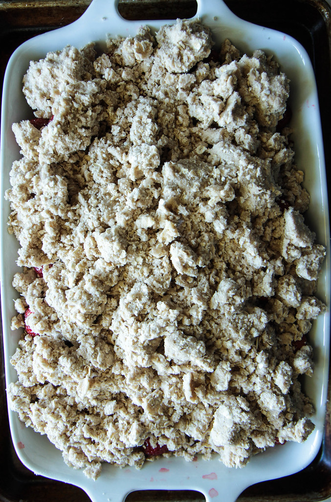 Strawberry Peaach Crumble (Vegan and Gluten-free) from HeatherChristo.com